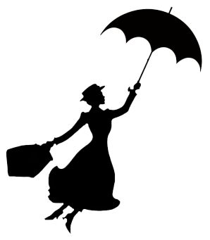 mary poppins silhouette